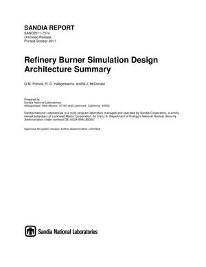 Primary view of object titled 'Refinery burner simulation design architecture summary.'.