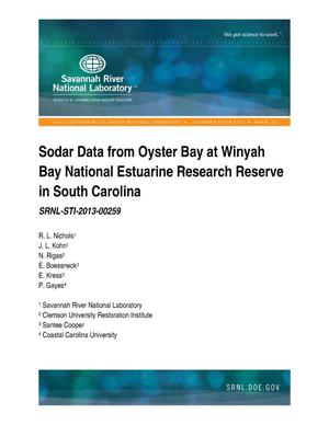 Primary view of object titled 'SODAR DATA FROM OYSTER BAY AT WINYAH BAY NATIONAL ESTUARINE RESEARCH RESERVE'.