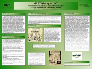 Primary view of object titled 'GLBT History at UNT'.
