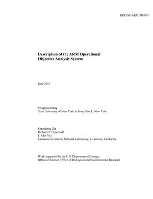 Primary view of object titled 'Description of the ARM Operational Objective Analysis System'.