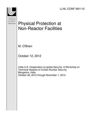 Primary view of object titled 'Physical Protection at Non-Reactor Facilities'.