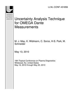 Primary view of object titled 'Uncertainty Analysis Technique for OMEGA Dante Measurements'.