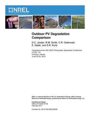 Primary view of object titled 'Outdoor PV Degradation Comparison'.