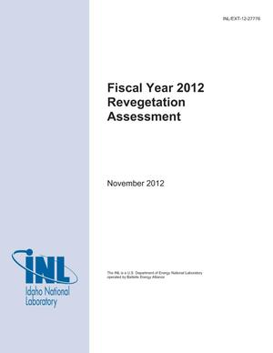 Primary view of object titled 'Fiscal Year 2012 Revegetation Assessment'.