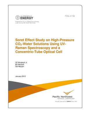 Primary view of object titled 'Soret Effect Study on High-Pressure CO2-Water Solutions Using UV-Raman Spectroscopy and a Concentric-Tube Optical Cell'.