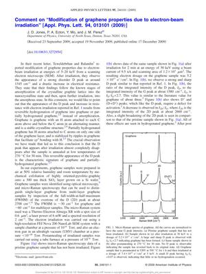 "Primary view of object titled 'Comment on ""Modification of graphene properties due to electron-beam irradiation""'."
