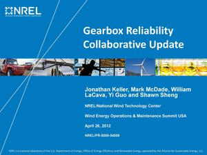 Primary view of object titled 'Gearbox Reliability Collaborative Update (Presentation)'.