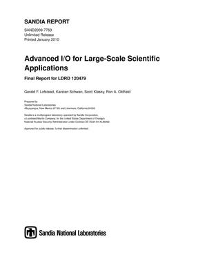 Primary view of object titled 'Advanced I/O for large-scale scientific applications.'.