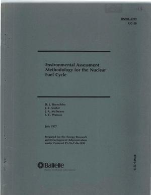 Primary view of object titled 'Environmental Assessment Methodology for the Nuclear Fuel Cycle'.