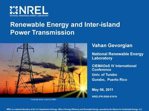 Primary view of object titled 'Renewable Energy and Inter-Island Power Transmission (Presentation)'.
