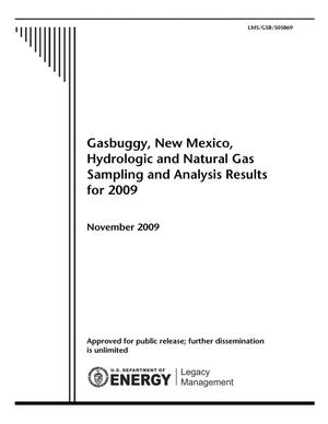 Primary view of object titled 'Gasbuggy, New Mexico, Hydrologic and Natural Gas Sampling and Analysis Results for 2009'.