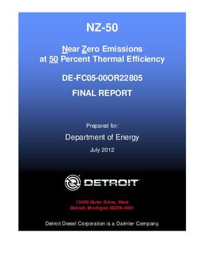 Primary view of object titled 'Near Zero Emissions at 50 Percent Thermal Efficiency'.