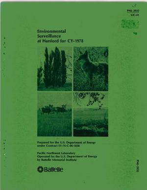 Primary view of object titled 'ENVIRONMENTAL SURVEILLANCE AT HANFORD FOR CY-1978'.
