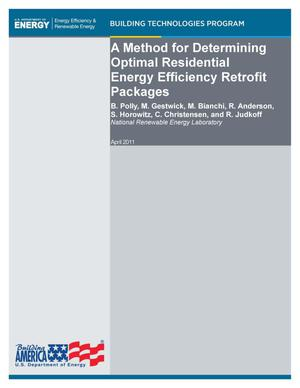 Primary view of object titled 'Method for Determining Optimal Residential Energy Efficiency Retrofit Packages'.