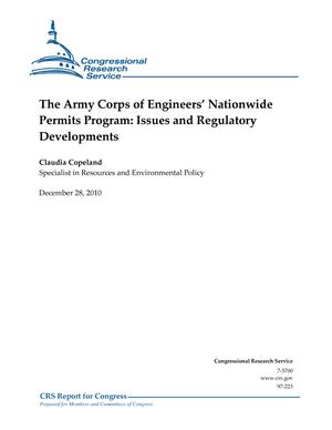 The Army Corps of Engineers' Nationwide Permits Program: Issues and Regulatory Developments