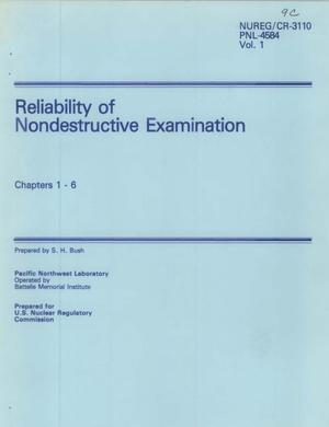 Primary view of object titled 'Reliability of Nondestructive Examination Chapters 1 - 6'.