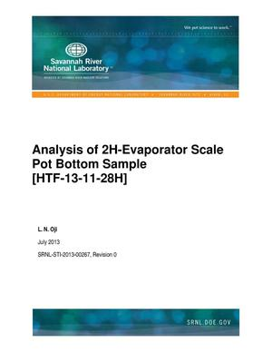 Primary view of object titled 'Analysis Of 2H-Evaporator Scale Pot Bottom Sample [HTF-13-11-28H]'.