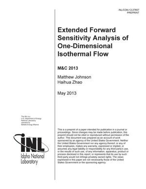 Primary view of object titled 'EXTENDED FORWARD SENSITIVITY ANALYSIS OF ONE-DIMEN'.