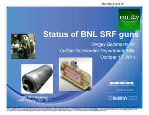 Primary view of object titled 'Status of BNL SRF guns'.