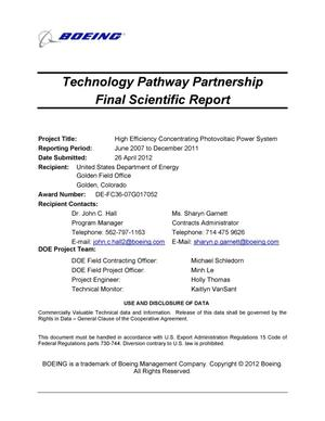 Primary view of object titled 'Technology Pathway Partnership Final Scientific Report'.
