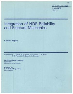 Primary view of object titled 'Integration of NDE Reliability and Fracture Mechanics'.