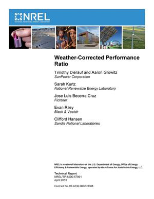 Primary view of object titled 'Weather-Corrected Performance Ratio'.