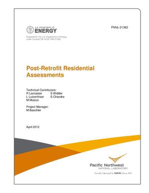 Primary view of object titled 'Post-Retrofit Residential Assessments'.