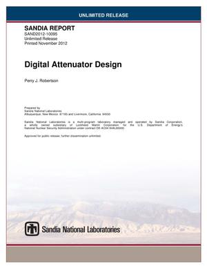 Primary view of object titled 'Digital attenuator design.'.