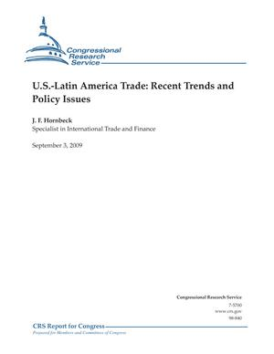 U.S.-Latin America Trade: Recent Trends and Policy Issues