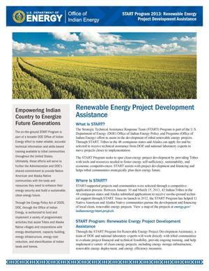 Primary view of object titled 'Renewable Energy Project Development Assistance (Fact Sheet)'.