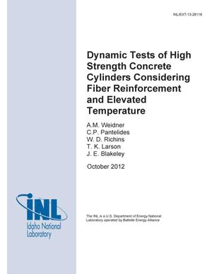 Primary view of object titled 'Dynamic Tests of High Strength Concrete Cylinders'.