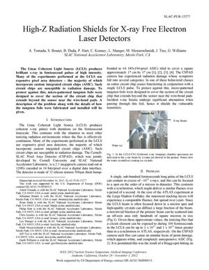 Primary view of object titled 'High-Z Radiation Shields for X-ray Free Electron Laser Detectors'.