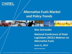 Primary view of object titled 'Alternative Fuels Market and Policy Trends (Presentation)'.