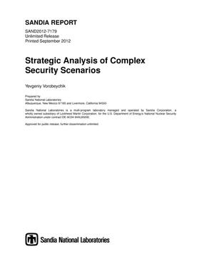 Primary view of object titled 'Strategic analysis of complex security scenarios.'.