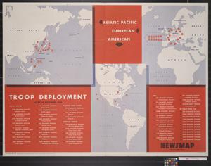 Primary view of object titled 'Newsmap for the Armed Forces : Troop deployment'.