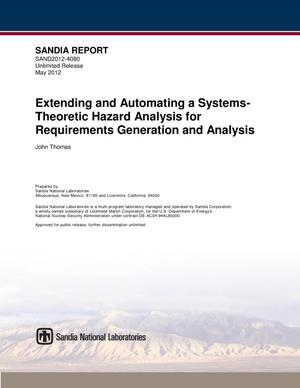 Primary view of object titled 'Extending and automating a Systems-Theoretic hazard analysis for requirements generation and analysis.'.