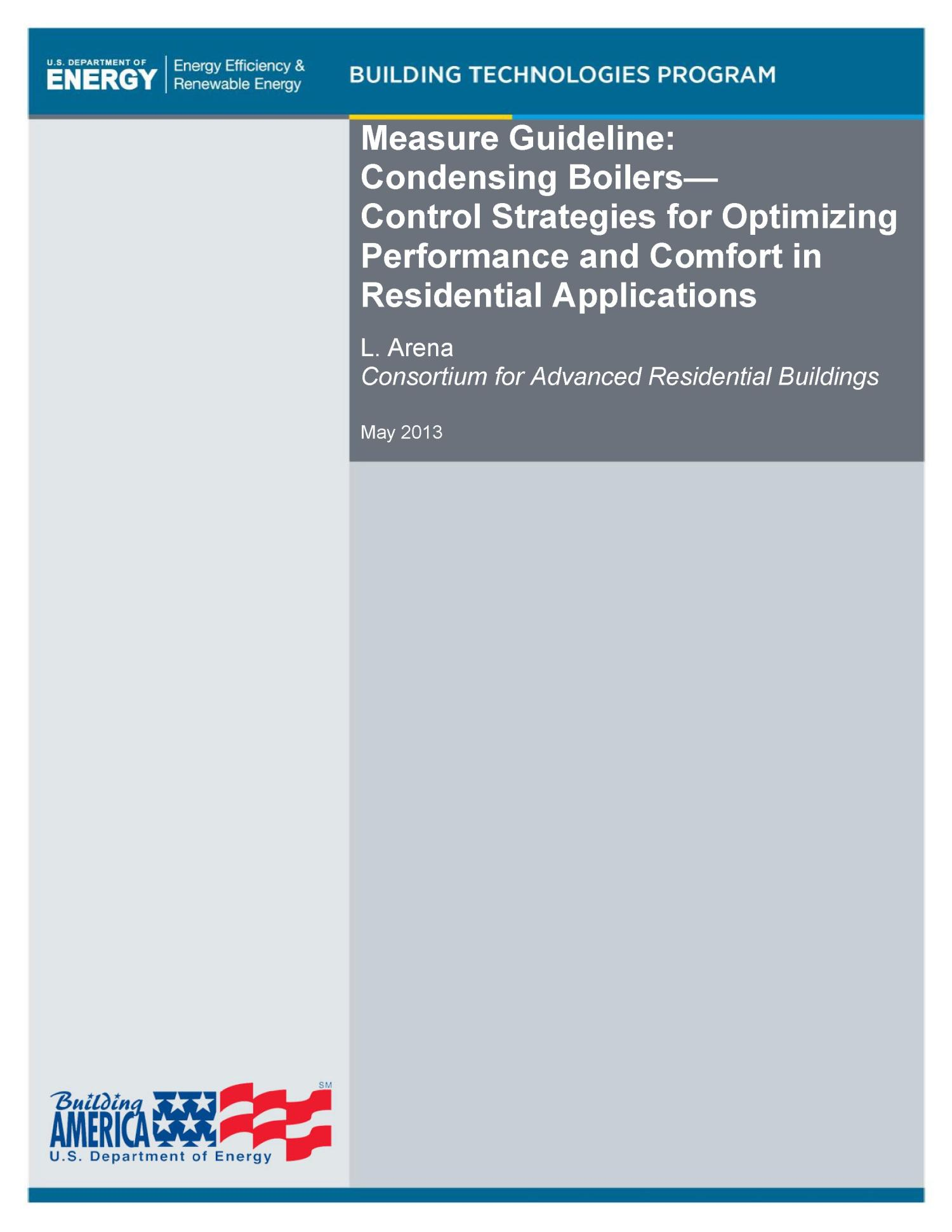 Measure Guideline: Condensing Boilers - Control Strategies for ...