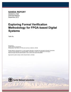 Primary view of object titled 'Exploring formal verification methodology for FPGA-based digital systems.'.