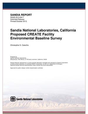 Primary view of object titled 'Sandia National Laboratories, California proposed CREATE facility environmental baseline survey.'.