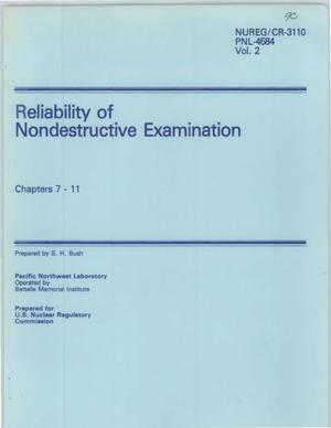 Primary view of object titled 'Reliability of Nondestructive Examination Chapters 7 - 11'.