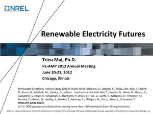 Primary view of object titled 'Renewable Electricity Futures (Presentation)'.
