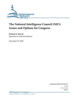 The National Intelligence Council (NIC): Issues and Options for Congress