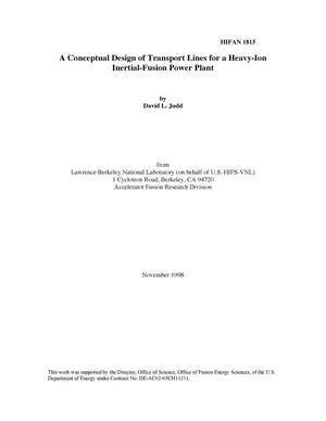 Primary view of object titled 'A Conceptual Design of Transport Lines for a Heavy-Ion Inertial-Fusion Power Plant'.