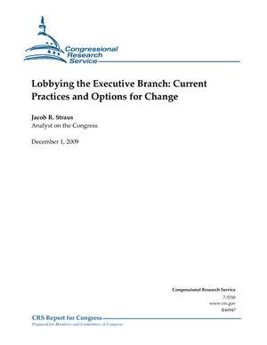 Lobbying the Executive Branch: Current Practices and Options for Change