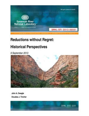 Primary view of object titled 'REDUCTIONS WITHOUT REGRET: HISTORICAL PERSPECTIVES'.