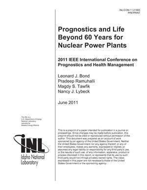 Primary view of object titled 'Prognostics and Life Beyond 60 for Nuclear Power Plants'.