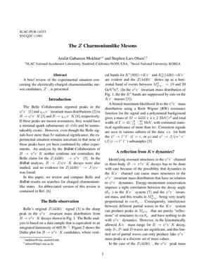 Primary view of object titled 'The Z Charmoniumlike Mesons'.