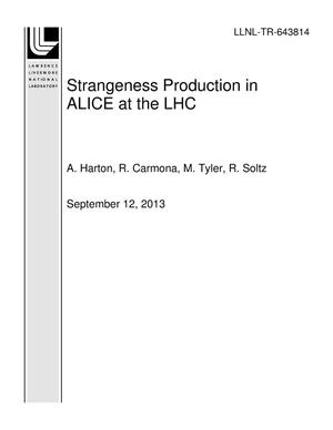 Primary view of object titled 'Strangeness Production in ALICE at the LHC'.
