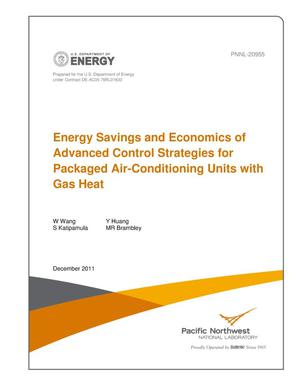 Primary view of object titled 'Energy Savings and Economics of Advanced Control Strategies for Packaged Air-Conditioning Units with Gas Heat'.