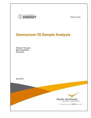 Primary view of object titled 'Germanium-76 Sample Analysis'.